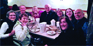 Observer courtesy photo The author and his family enjoy their last meal at Bove's. Bill Skiff is on the far right. His brother Bobby is on the far left of the back row.