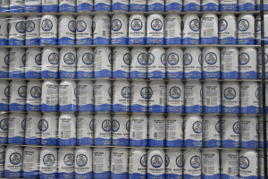 Observer photos by Jess Wisloski Stacks of Goodwater's Hoppy Side of Pale await delivery at the Marshall Ave. brewery.
