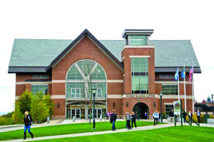 The Dudley H. Davis Center at the University of Vermont. The college is one of the tax-exempt entities being asked to contribute more money to the city. File photo by Josh Larkin/VTDigger