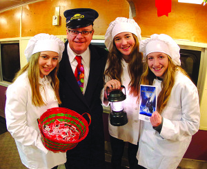Conductor David Provost of Shelburne and his helper chefs.
