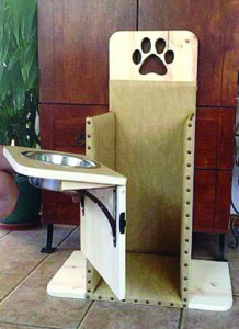 RIGHT: A Bailey chair, like the one pictured here, was built by workers at Home Depot for Gus, to help him survive his condition. Being held up in the chair will help dog food to move properly through Gus's esophagus, and ultimately can help extend his life.