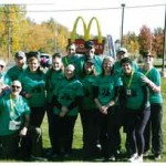 Cheers to George  Observer courtesy photo  The family of George Vandevord of Williston traveled to Peru, NY in October to participate in a half-marathon to benefit the Pulmonary Fibrosis Foundation.
