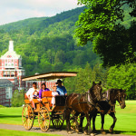 Observer courtesy photo  Guests explore the grounds of the Omni Homestead Resort in Hot Springs, Virginia, by way of an old-fashioned carriage ride. Photo courtesy of Omni Homestead Resort.