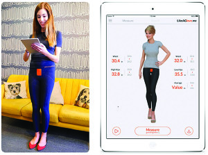 Fashion meets high tech function. Find jeans that fit with smart leggings outfitted with sensors that send your measurements to an app via Bluetooth. Visit likeaglove.me.