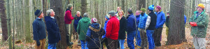 Observer courtesy photo Bridget Butler, Cold Hollow to Canada program director, speaks to people gathered at a field session.