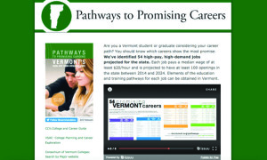 The website Pathways to Promising Careers is an online tool that shows people how to become qualified for the most promising jobs in the state.