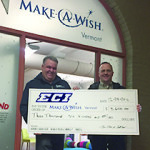 Observer courtesy photo ECI presents a check to Make-a-Wish.