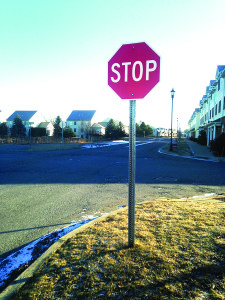 Observer photo by Jess Wisloski A stop sign halts traffic headed east on Zephyr Road at Day Lane.