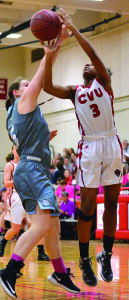 Mekkena Boyd gets fouled in the paint during CVU's game versus So Burlington on Friday the 10th.