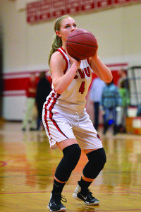 Jaime Vachon makes a foul shot during CVU's game versus So Burlington on Friday the 10th.