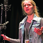 Observer contributed photo by Peter Weyrauch Emily Friedrichsen recites one of the three poems she performed as part of the Vermont Poetry Out Loud competition held March 16.