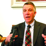 Gov. Phil Scott. File photo by Elizabeth Hewitt/VTDigger. Gov. Phil Scott announced a $525,000 federal Community Development Block Grant as part of the financing for a 39-unit senior housing project being developed by Cathedral Square in South Burlington east of Dorset Street.