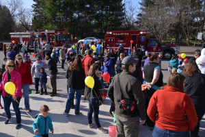 The crowd gathers for the Williston/Richmond Rotary Easter Egg hunt on Saturday morning the 15th