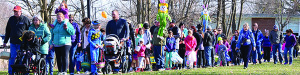 Observer photo by Al Frey A parade of Easter egg hunters for the Williston/Richmond Rotary Easter Egg Hunt queued up last Saturday morning,