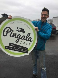Observer photos by Jason Starr Trevor Sullivan will open a second location of his Pingala vegan cafe inside a replica food truck at the Kismet building on Route 2A.