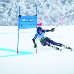 Observer courtesy photo French skier Tania Barioz rounds a gate in the giant slalom in November at Killington Resort. The ski area is poised to sign a two-year deal to bring World Cup racing back to Vermont through 2018.