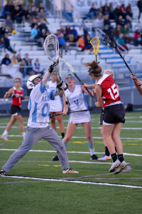 Becca Provost gets off a shot during CVU's game versus So Burlington on Friday evening the 19th in So Burlington.