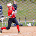 Paige Niarchos gets her pitch during CVU's game with Essex on Saturday the 13th in Essex