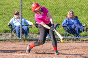 Jesssica Gagne fouls offa pitch during CVU's game versus Mt Abraham on May 16th in Hinesburg
