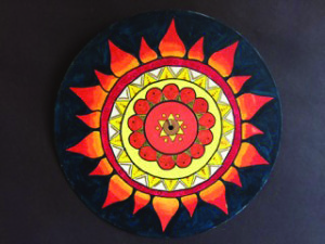 'Summer' mandala by Jillian Hebert, Grade 10