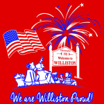 Look for July Fourth T-shirts on sale during the July Fourth festivities with the 'We are Williston Proud' theme. Get yours at the green on July Fourth during the day or prior to the fireworks. The price is $10.