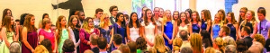 Observer photo by Al Frey Williston Central School eighth-graders participate in graduation ceremonies last Thursday.