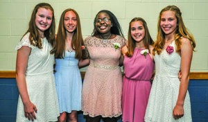Williston Central School Graduation 15Jun17-4_girls
