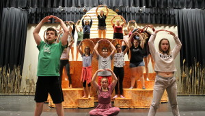 "Observer courtesy photo Students prepare Tuesday for the Aug. 11-13 run of ""The Lion King"" at CVU."