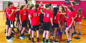 Observer contributed photo The Champlain Valley Union girls basketball camp was well attended, with 82 participants.