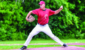 Williston Armadillos' lefty pitcher, Ken Freeman during their game versus Waterury on Sunday the 23rd. The Armadillos won the game and are in 3rd place in the league.