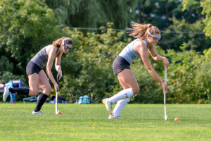 Observer photos by Al Frey CVU field hockey players practice stick-handling earlier this season.