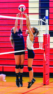 Observer photo by Al Frey CVU girls volleyball has a new coach and an eye on a repeat as state champions in 2017.