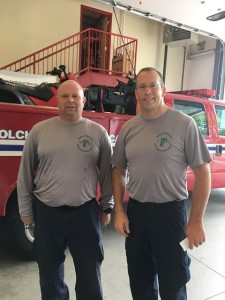 Observer courtesy photos Senior Firefighter Dave Auriemma (left) and Capt. Tim Gerry were deployed to Texas last week as part of FEMA's response to Hurricane Harvey.