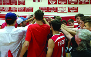 "Observer photo by Al Frey The CVU boys volleyball team's rallying cry this year is ""Storm strong"" in honor of a player, Storm Rushford, who was recently diagnosed with cancer."