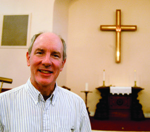 Observer photo by Jason Starr Pastor Paul Eyer takes over spiritual leadership at Williston Federated Church this week. He moved from Pennsylvania.