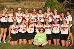 Observer courtesy photo The Champlain Valley High School field hockey team, along with second-year coach Tucker Pierson, is turning this week's game into a fundraiser for the American Cancer Society.