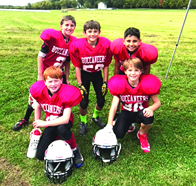 Observer courtesy photo The Bucs contingent of players from Williston: (top row left to right) Ian Kennelly, Jarrett Tourville, Blake Marshall; (bottom row left to right) Reilly Saylor and Mason Barron.