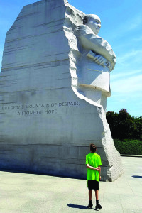 Observer courtesy photo by Jim Farber  A child visits the Martin Luther King Jr. Memorial in West Potomac Park in Washington, D.C.