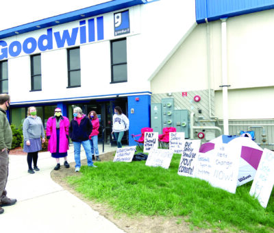 Williston Goodwill employees protest working conditions May 2021