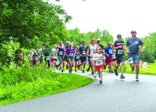 Runners set off at the start of the 5K run