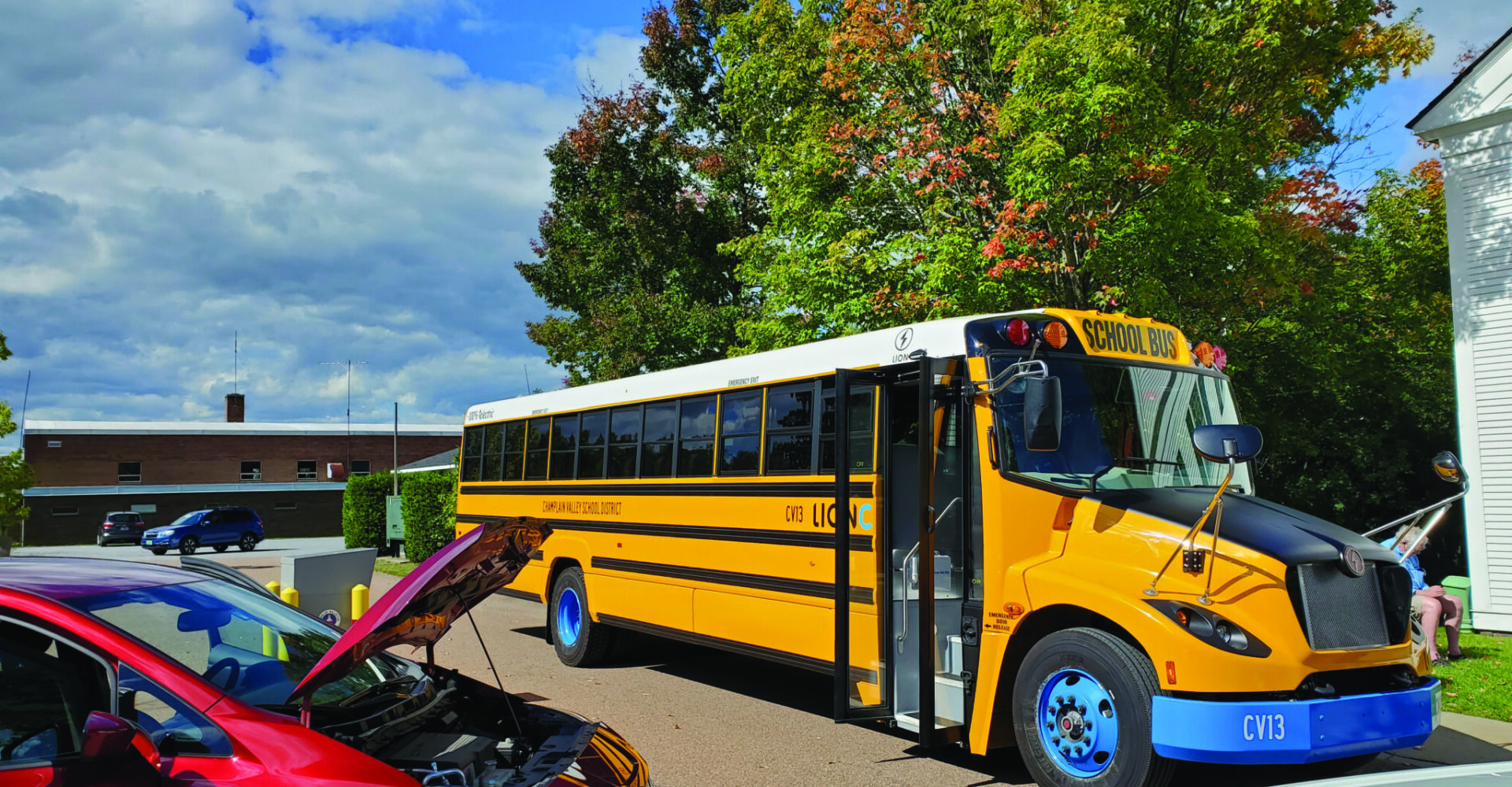 Electric school bus and vehicles showcased at CVSD