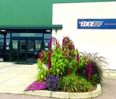 The entrance to The Edge fitness facility in Williston
